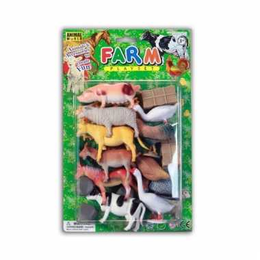 26 delige plastic boerderij dierenset