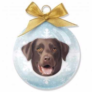 Kinder kerstbal hond enlabrador chocolate