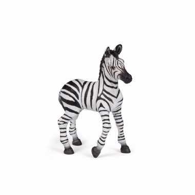 Plastic baby zebra 9 cm