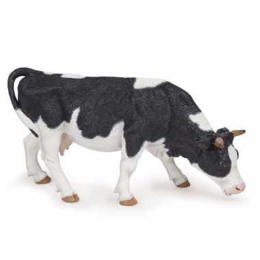 Plastic grazende koe 14 cm