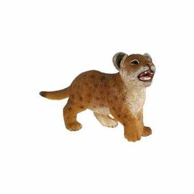 Plastic leeuwen welpje 7 cm