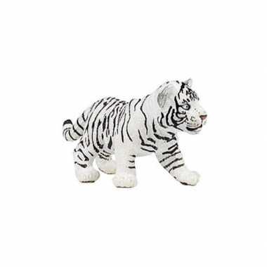 Plastic witte tijger welpje 7 cm