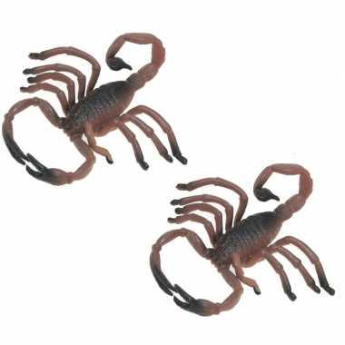 Set van 5x stuks plastic dieren schorpioenen 8 cm