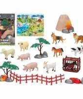 10x plastic boerderij dieren speelgoed figuren voor kinderen