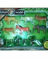 Plastic wilde dieren setje 6 stuks